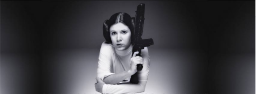 Carrie Fisher (1956 - 2016) en 1977 lors de la promotion de Star Wars